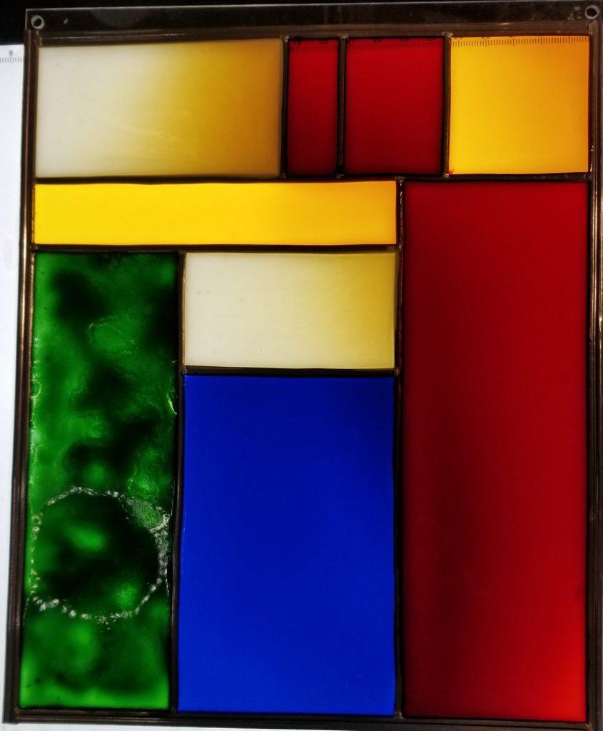 Mondrian triché de vert- Avril 2020 - Peinture sur acrylique