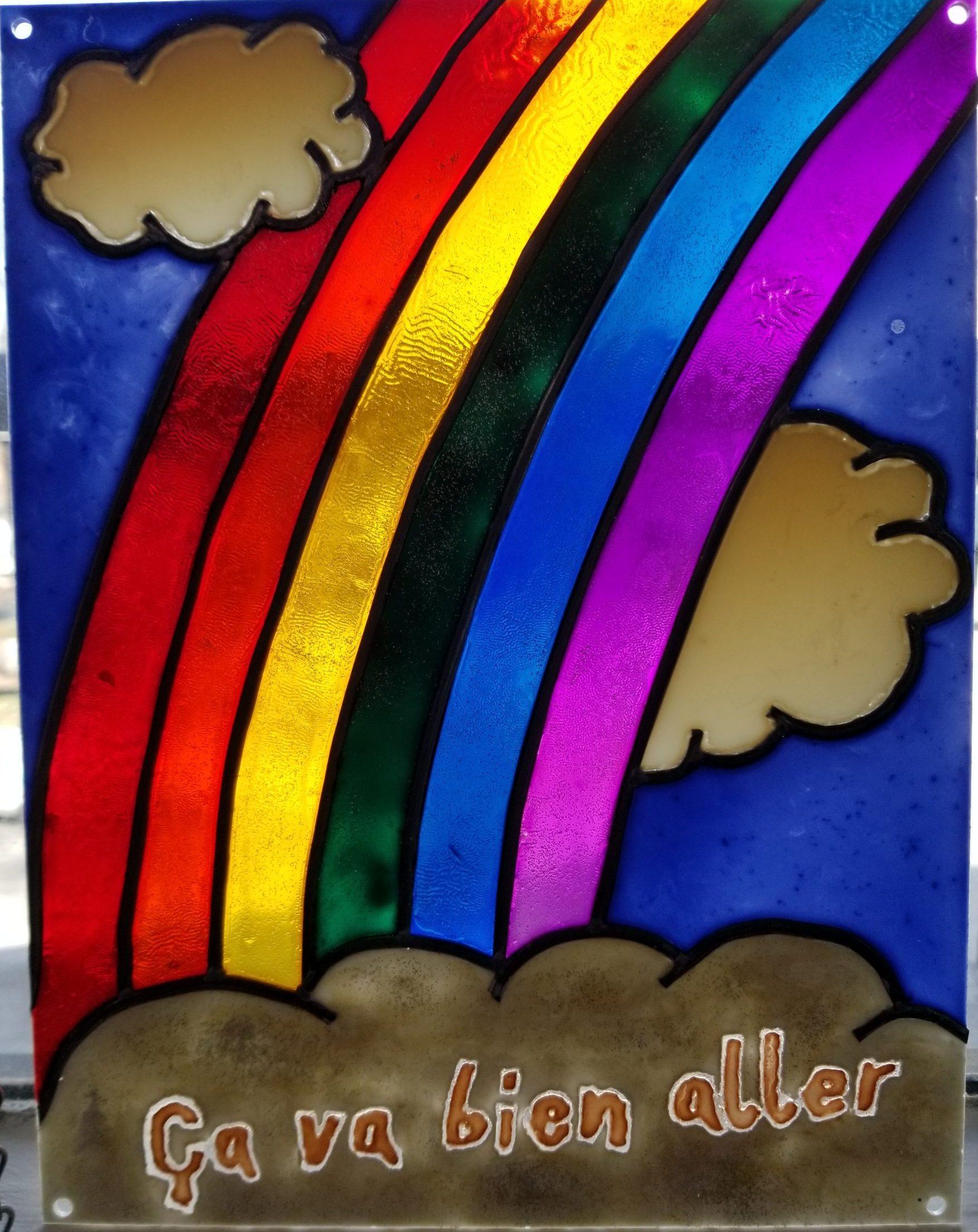 Arc-en-ciel du printemps Covid - Mai 2020 - Peinture sur Acrylique