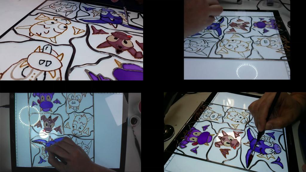 Dragons frigo – Décembre 2020 - Peinture sur acrylique - 216 x 279 cm
