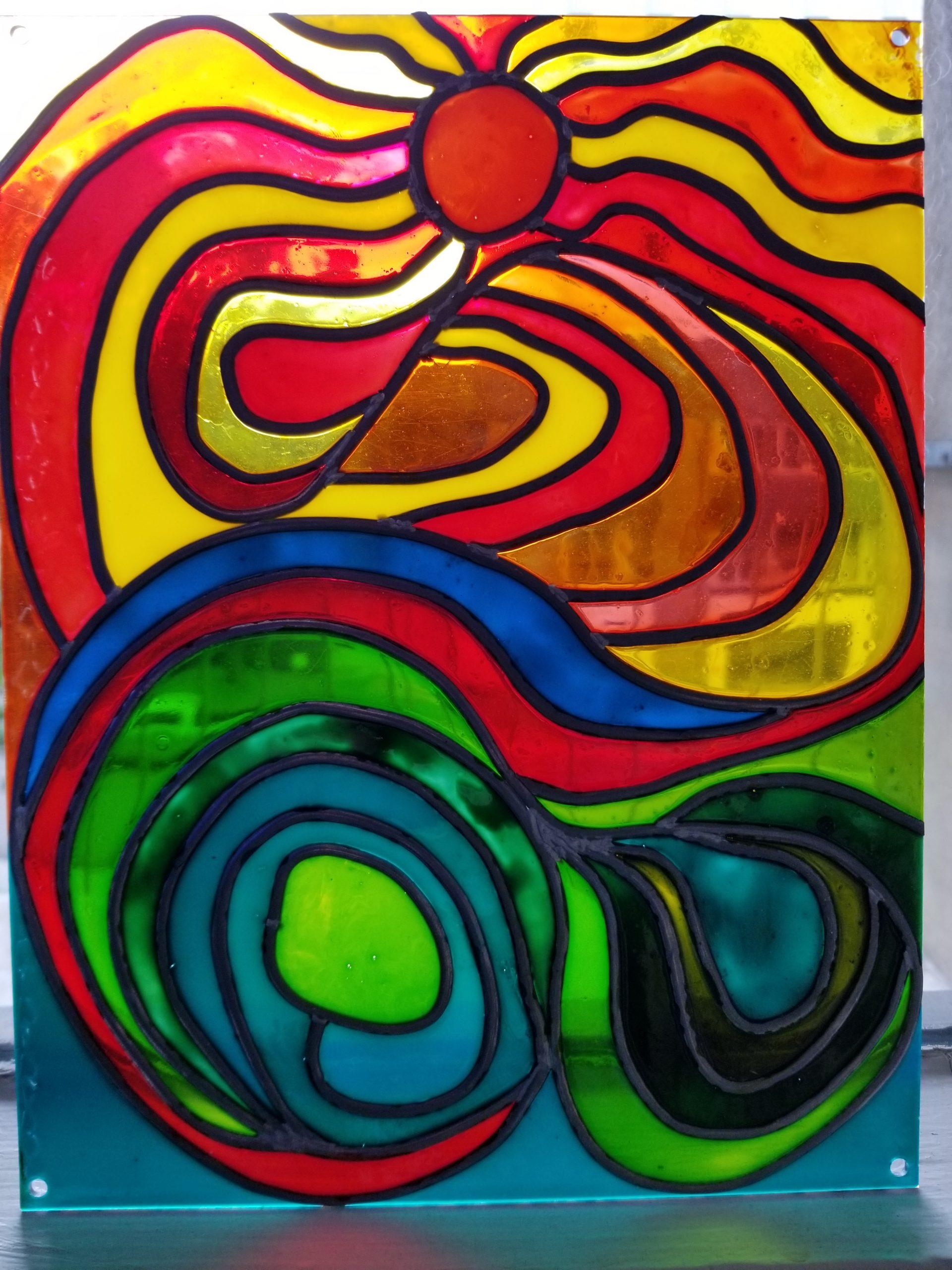 Été – Aout 2020 – Peinture sur feuille d'acrylique