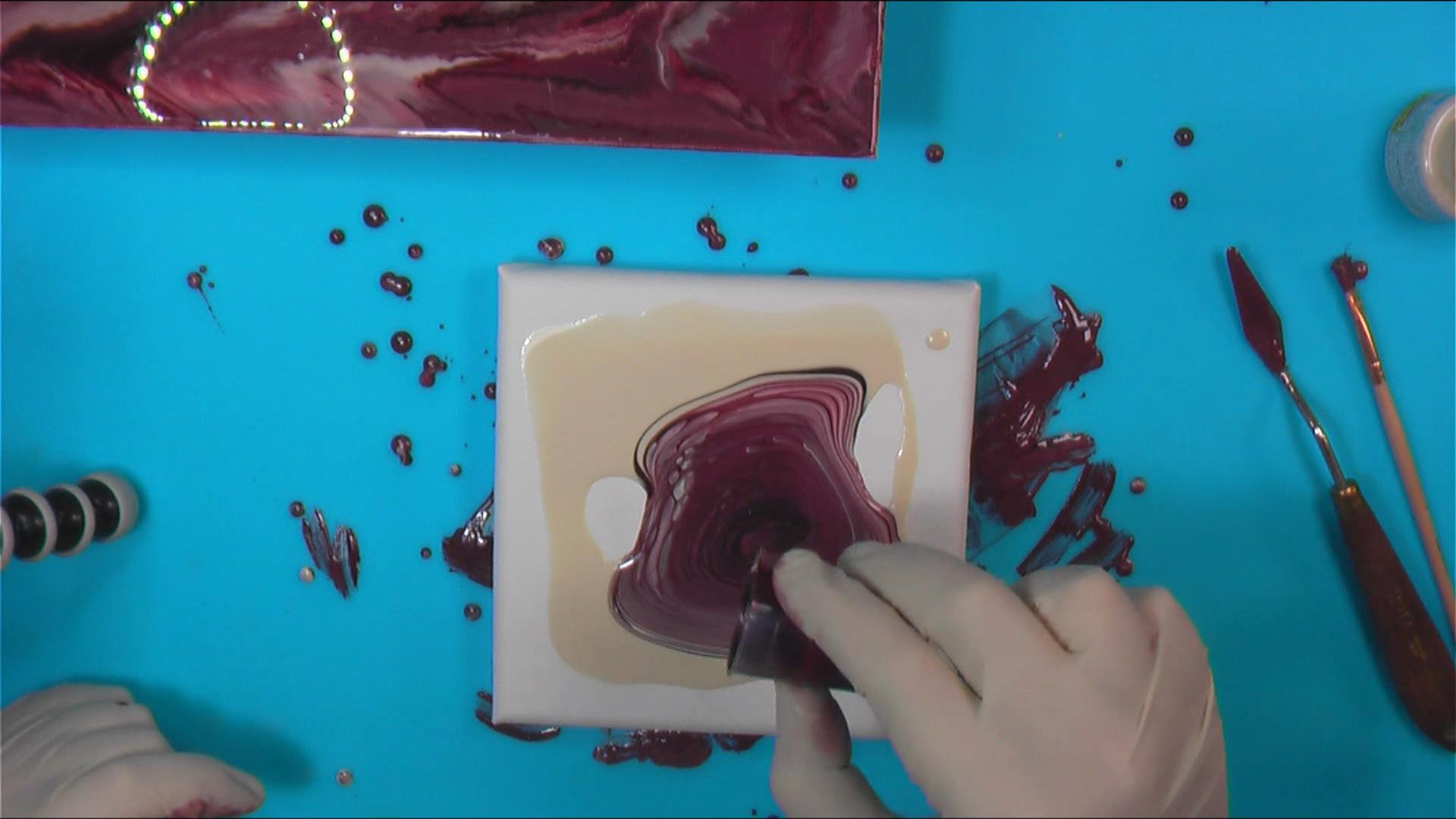 Expérimentation #4 – Décembre 2020 - Peinture vitrail sur toile
